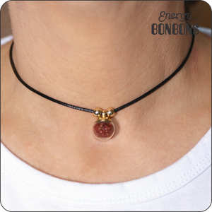 Red Jasper Gemstone Choker Necklace - Energy Bonbons