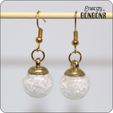 Energy Bonbons - Crushed Gemstone Earrings - Clear Quartz