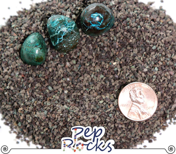 Chrysocolla - Coarse mineral sand particles