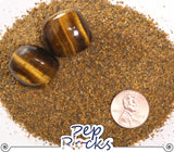 Tiger's Eye - Medium quartz sand particles