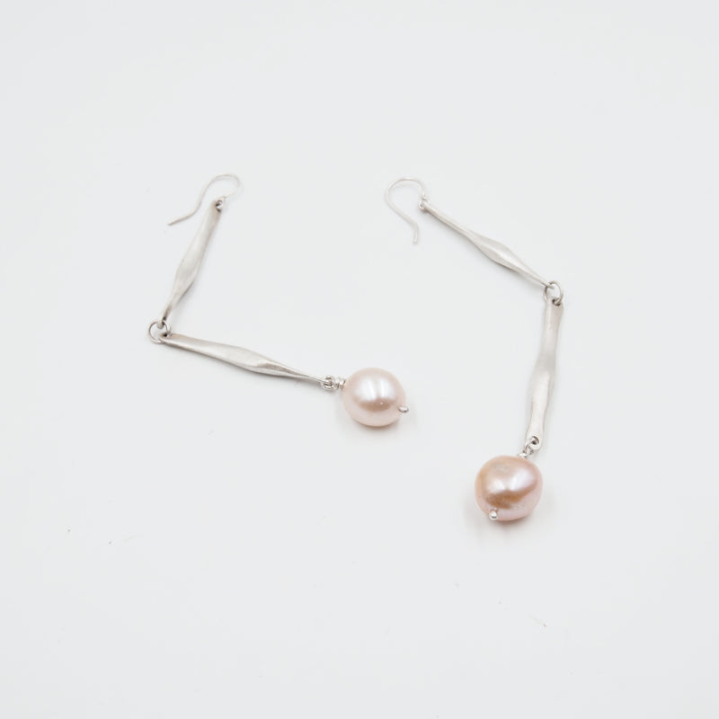 Bone Pearl Earrings