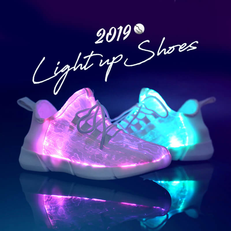best website 1a74d bf40e Summer Led Fiber Optic Shoes for Girls Boys Men Women Glowing Sneakers Man Light  Up Shoes