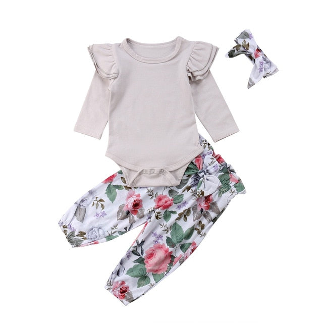 Ensemble pantalon bébé fille - Printemps