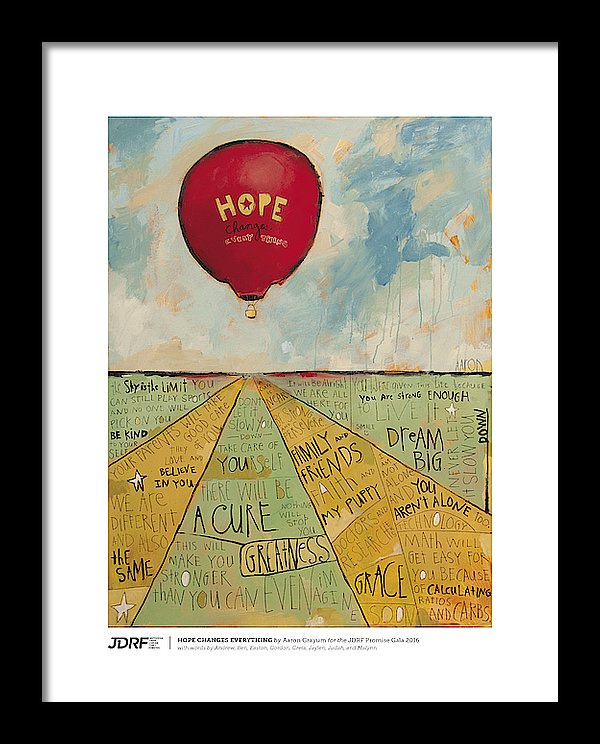 HOPE CHANGES EVERYTHING - JDRF Promise Gala 2016 (Framed Print)