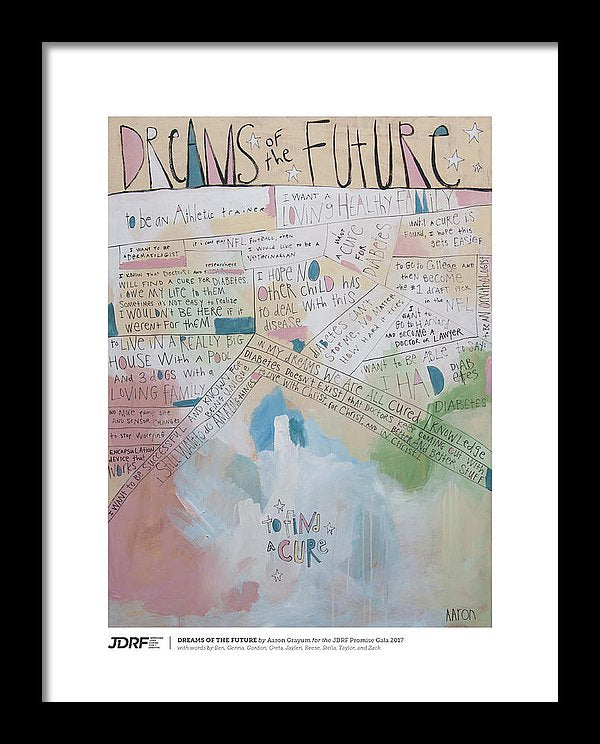 DREAMS OF THE FUTURE - JDRF Promise Gala 2017 (Framed Print)