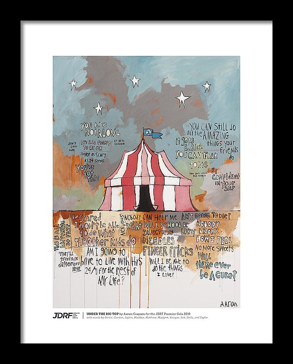 UNDER THE BIG TOP - JDRF Promise Gala 2019 (Framed Print)