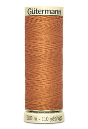 Gutermann Sew-All Polyester Thread 100m - Burnt Orange 461