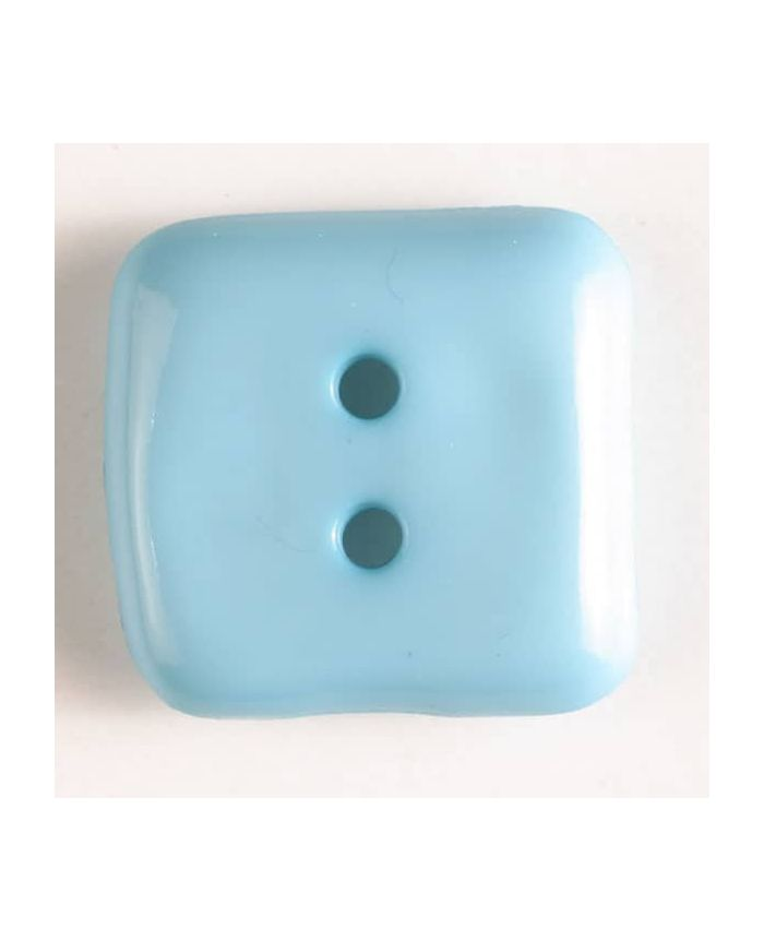 Plastic Square Button - 20mm - Aqua