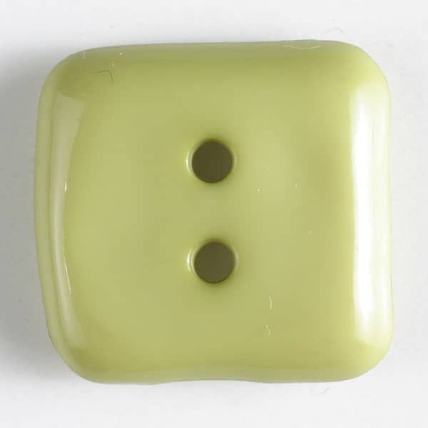 Plastic Square Button - 20mm - Lime