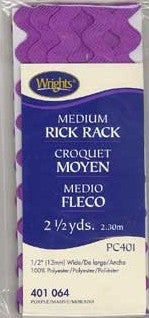 Medium Rick Rack - Purple