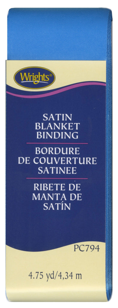 Wrights Satin Blanket Binding - Neon Blue