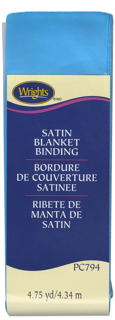 Wrights Satin Blanket Binding - Blue Jewel