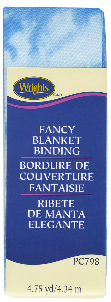 Wrights Fancy Printed Blanket Binding - Tie Dye Blue