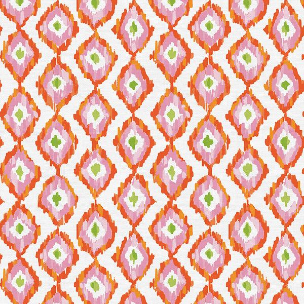 Diamond Stripe Orange from Citrus House by Erin Borja for Paintbrush Studios