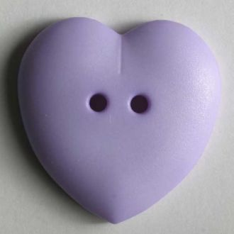 Heart Button - 15mm - Light Purple