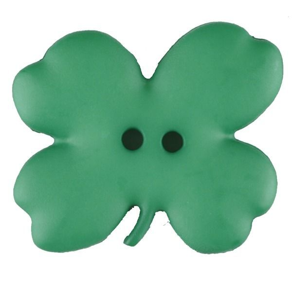 Cloverleaf Button -23mm - Green