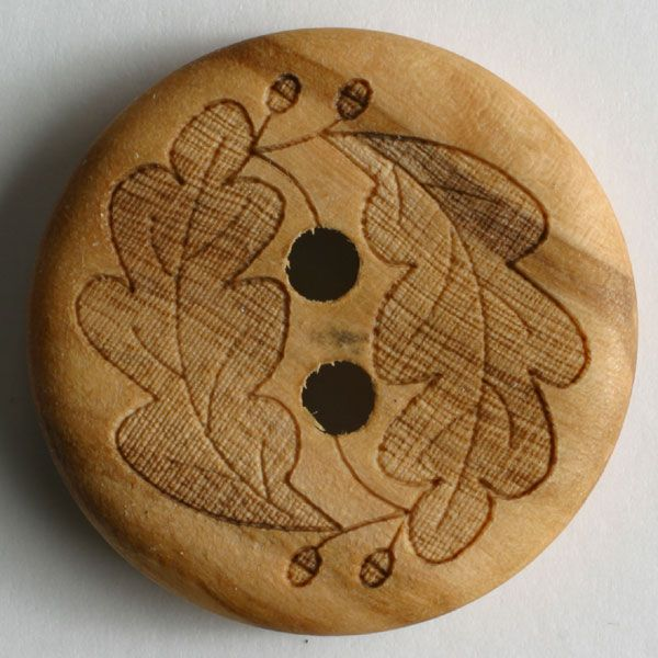 Wood Button - 23mm - Brown