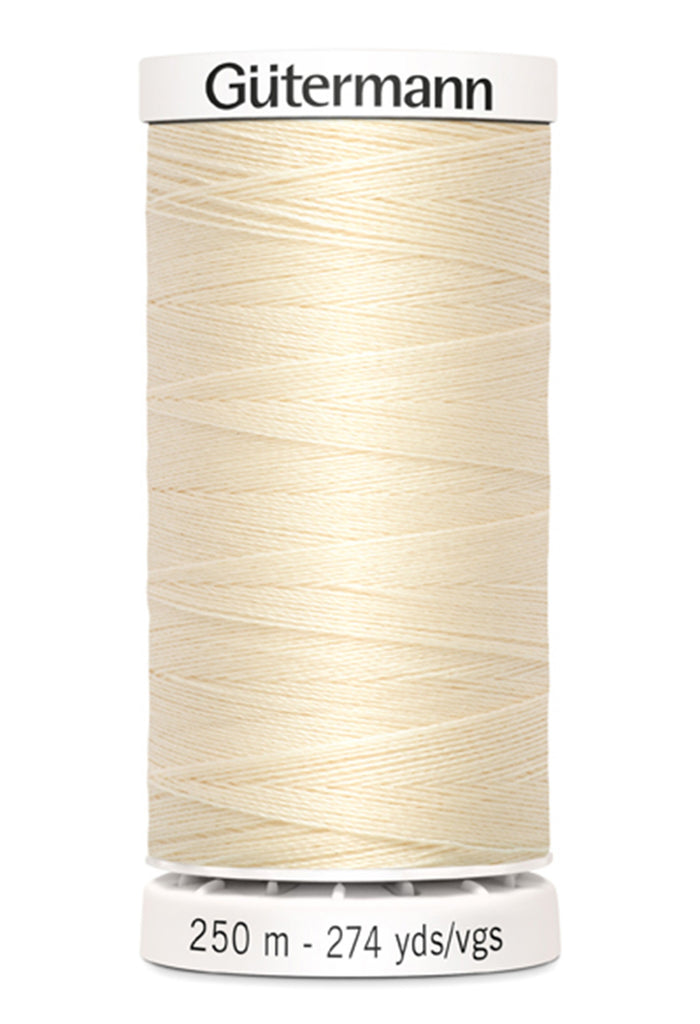 Gutermann Sew-All Polyester Thread 250m - Ivory 800