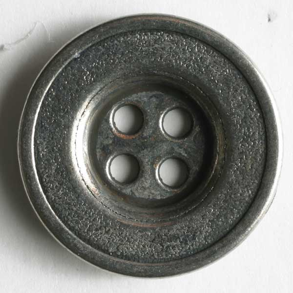 Full Metal Button - 18mm - Antique Silver