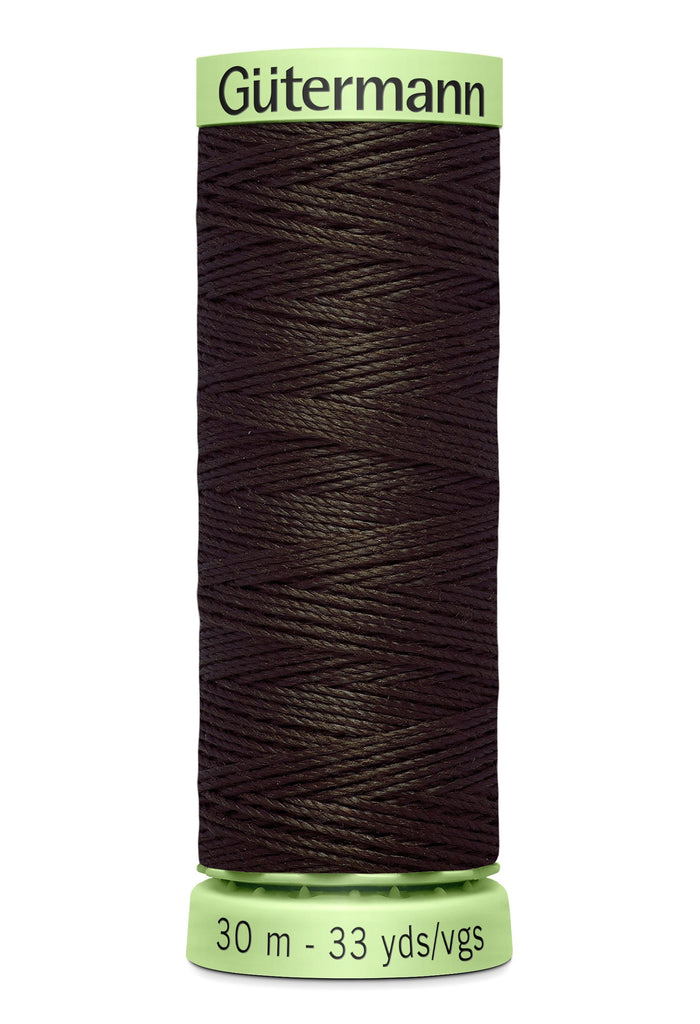 Heavy Duty Polyester Topstitching Thread 30m - Brown 596