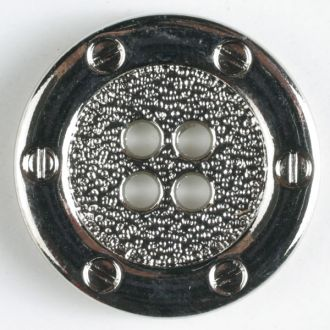 Full Metal Button - 20mm - Silver