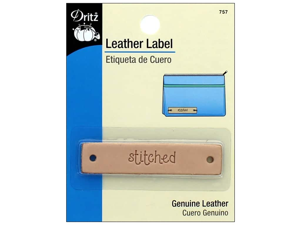 Leather Label - Stitched
