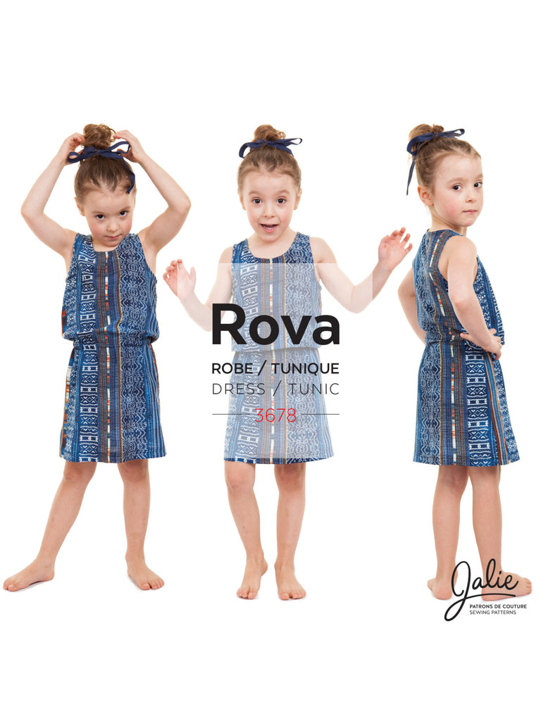 Jalie Patterns ROVA Blouson Tank Dress and Tunic #3678