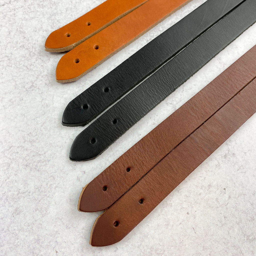 Leather Bag Handles - Tan