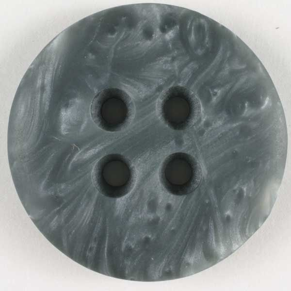 Polyester Button - 20mm - Grey