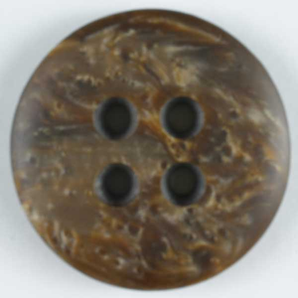 Polyester Button - 20mm - Brown