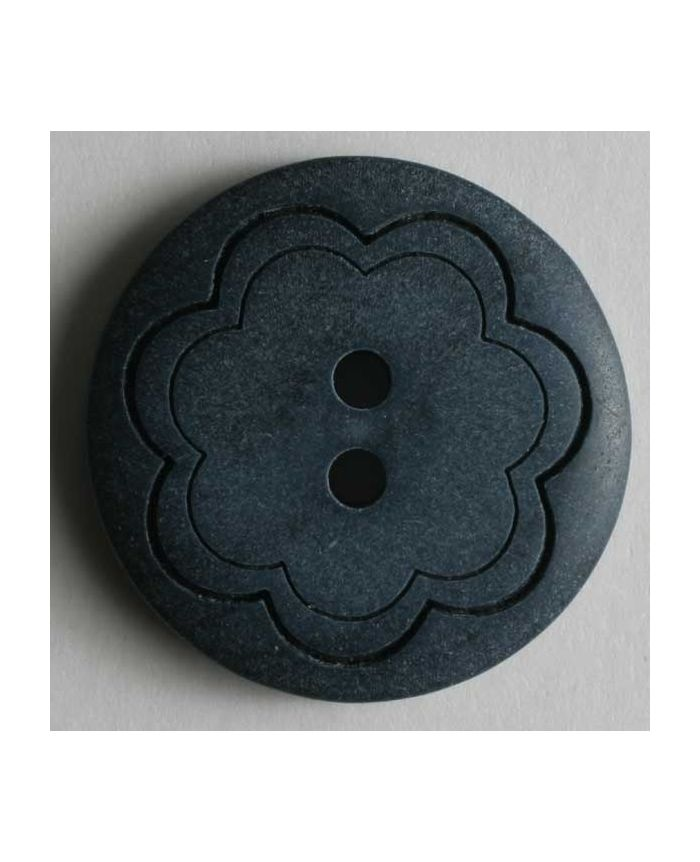 Fashion Button - 18mm - Blue Flower