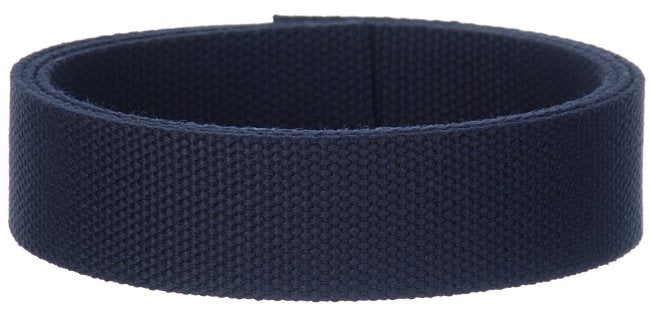 "Synthetic Cotton Canvas Webbing - 1.5"" Wide - Dark Navy Blue"