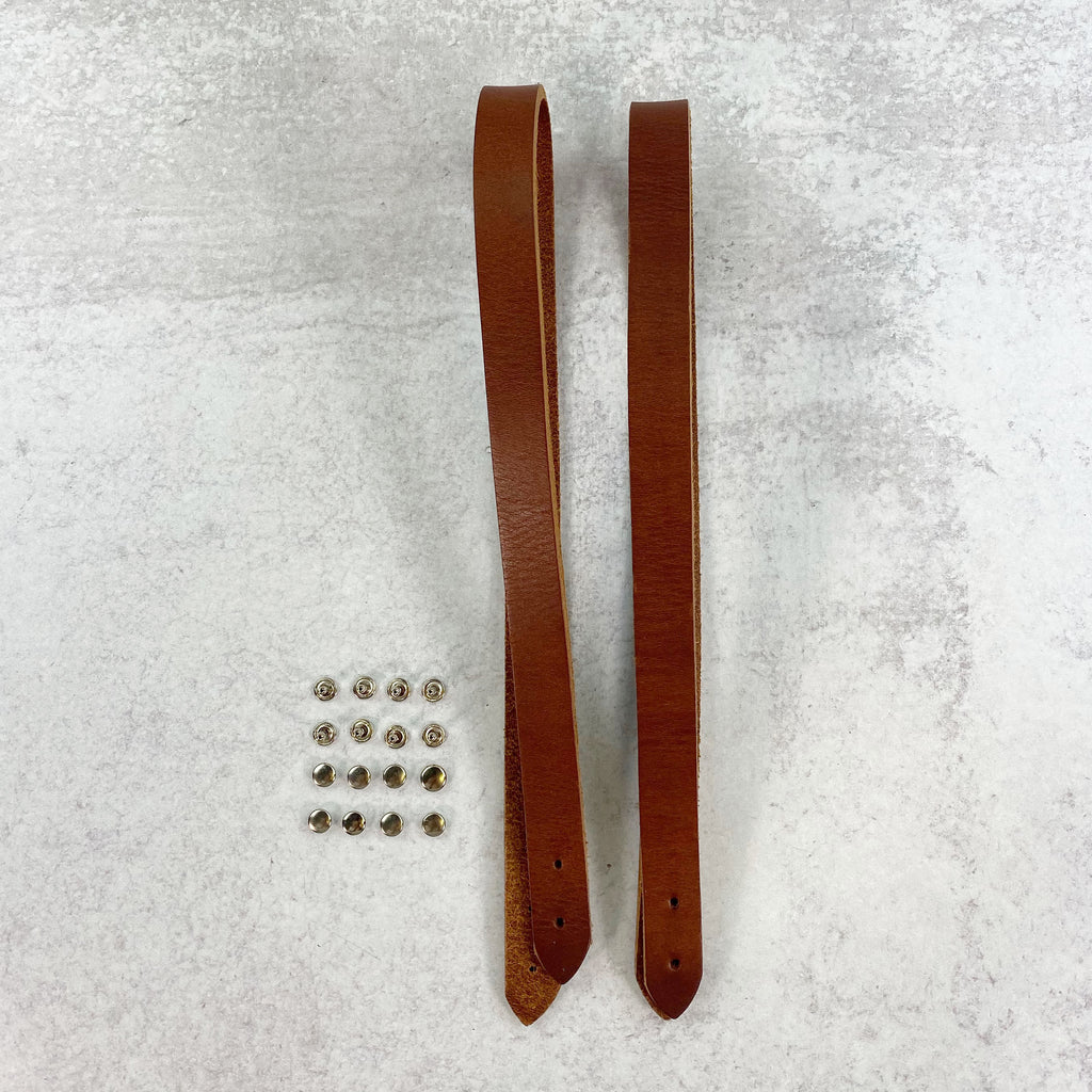 Leather Bag Handles - Chestnut