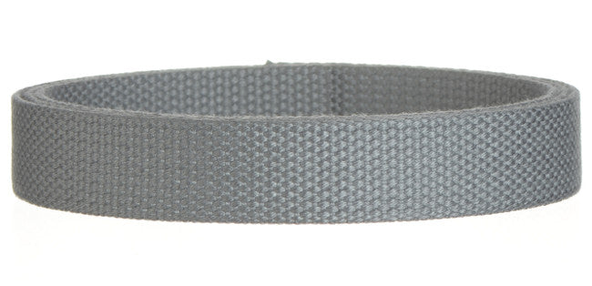 "Synthetic Cotton Canvas Webbing - 1"" Wide Gray"