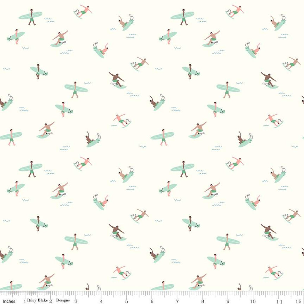 Surfs Upfrom Cream from Riptide by Citrus & Mint Designs for Riley Blake Fabric