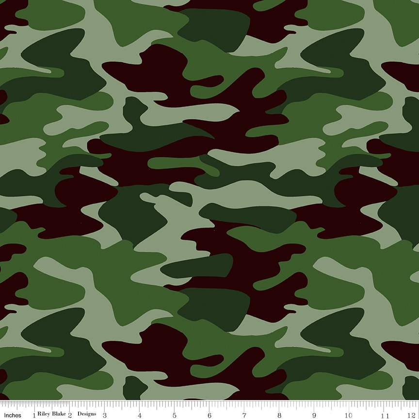 Camo Green from Nobody Fights Alone for Riley Blake Designs