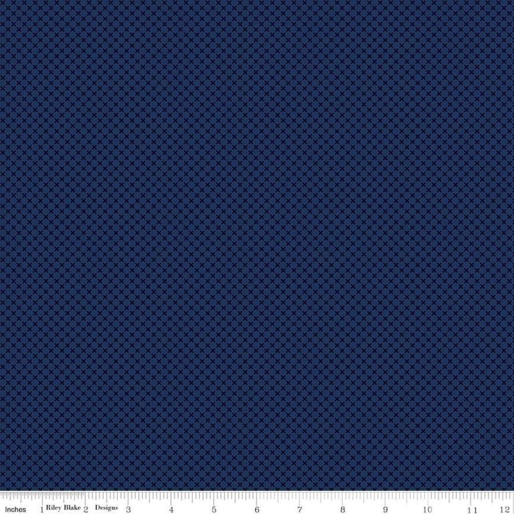 Kisses Navy by Doodlebug Design Inc. for Riley Blake Design