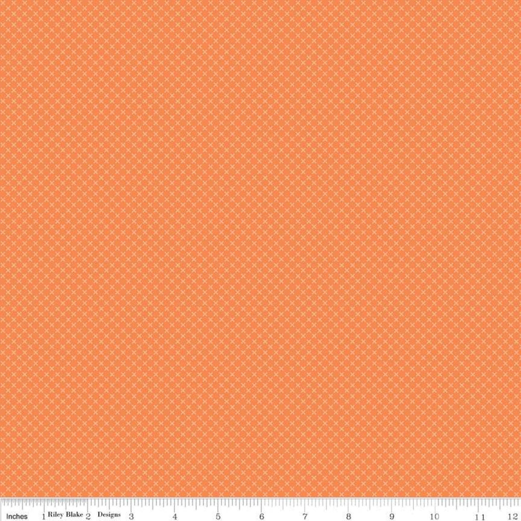 Kisses Orange by Doodlebug Design Inc. for Riley Blake Design