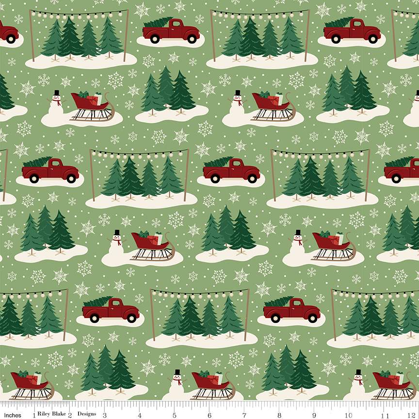 Main Green from Christmas Traditions by Dani Mogstad for Riley Blake Designs