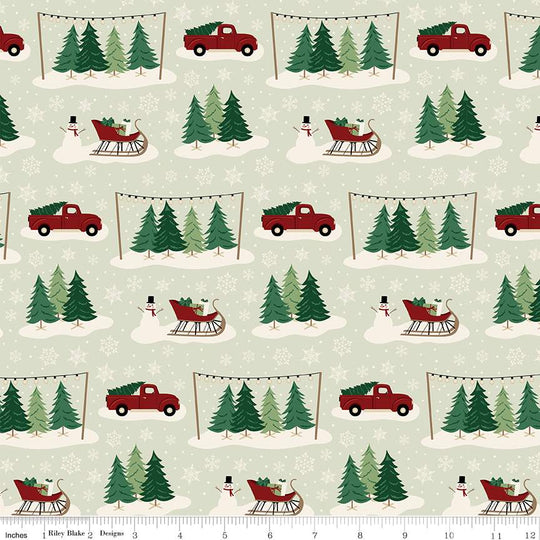 Main Mint from Christmas Traditions by Dani Mogstad for Riley Blake Designs