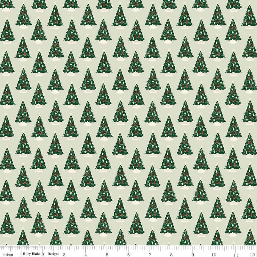 Trees Mint from Christmas Traditions by Dani Mogstad for Riley Blake Designs