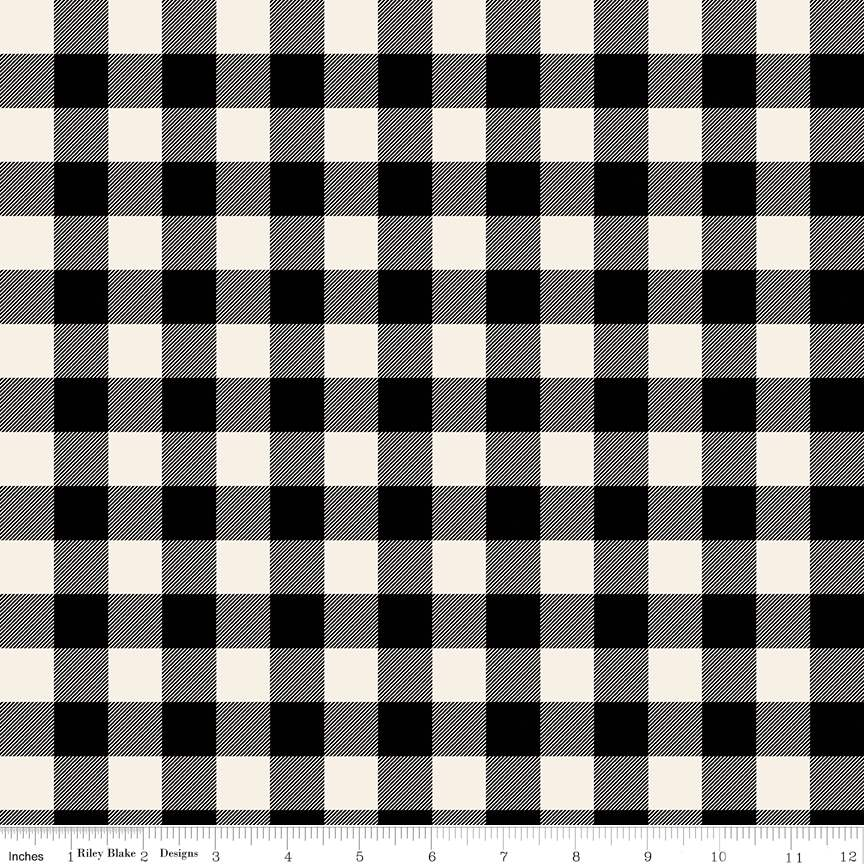 Plaid Black from Christmas Traditions by Dani Mogstad for Riley Blake Designs