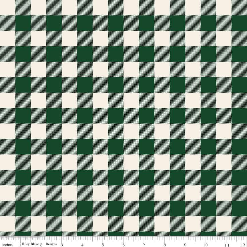 Plaid Dark Green from Christmas Traditions by Dani Mogstad for Riley Blake Designs