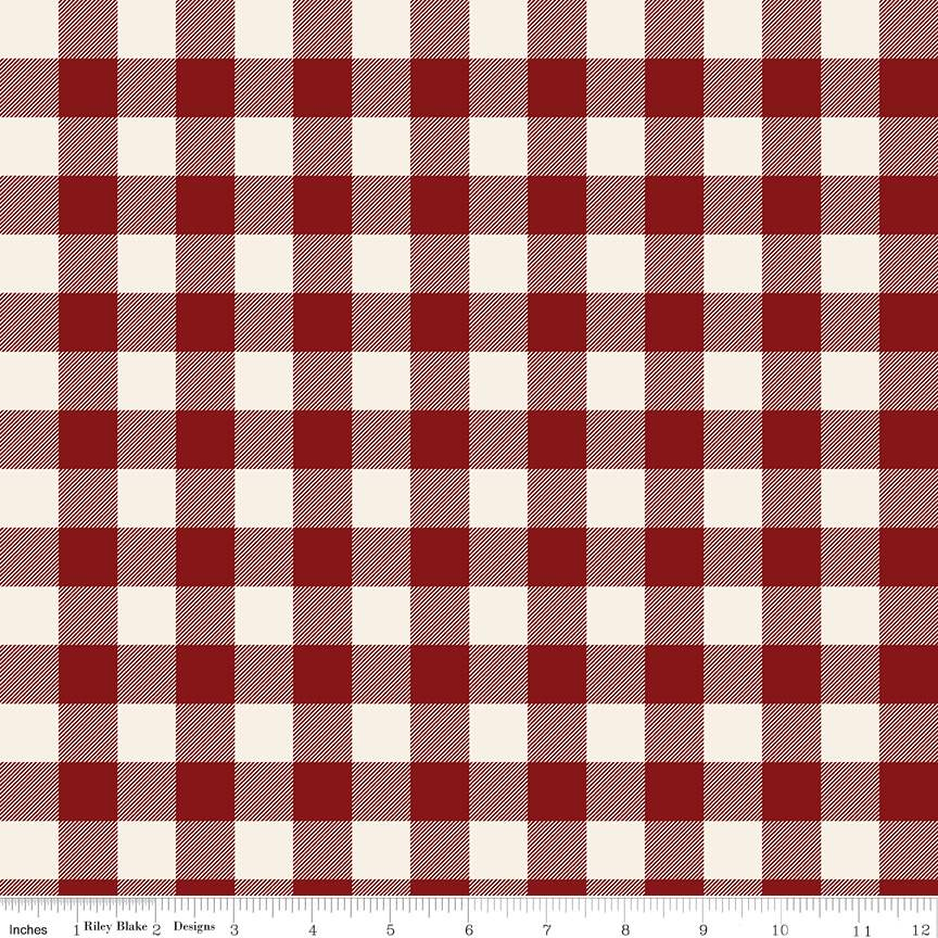 Plaid Red from Christmas Traditions by Dani Mogstad for Riley Blake Designs