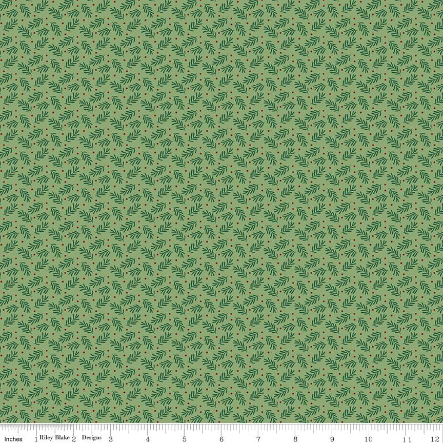 Sprigs Green from Christmas Traditions by Dani Mogstad for Riley Blake Designs