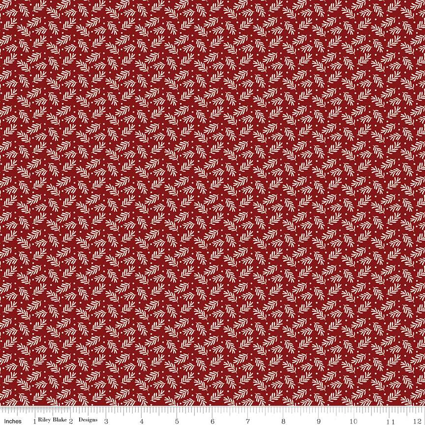 Sprigs Red from Christmas Traditions by Dani Mogstad for Riley Blake Designs