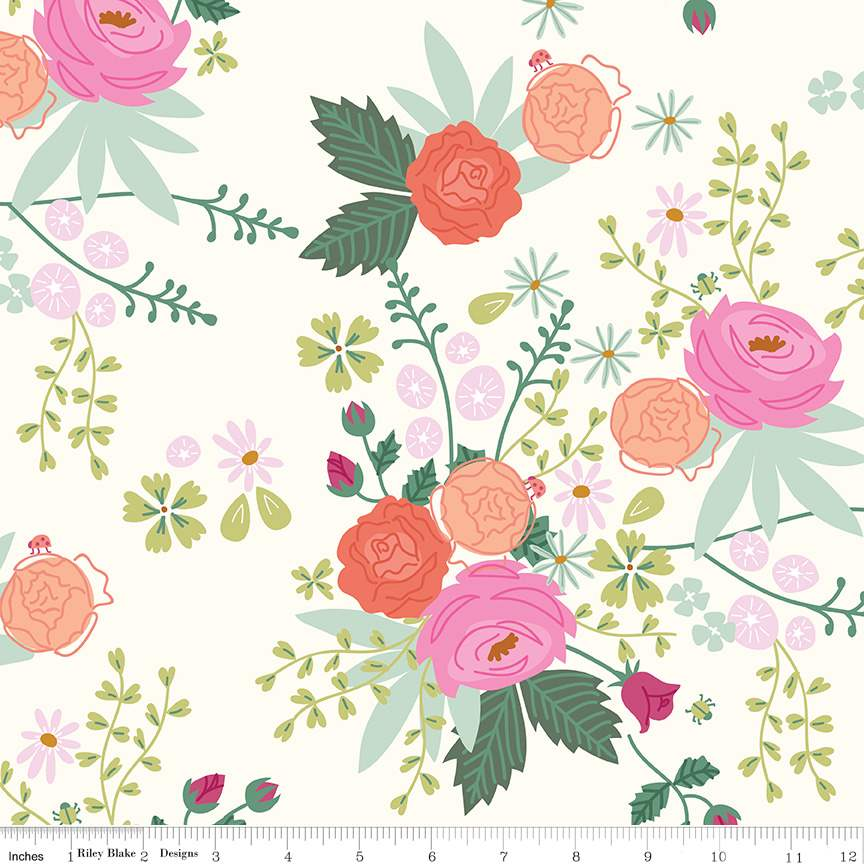 Main Cream from New Dawn by Citrus & Mint Designs for Riley Blake Fabric