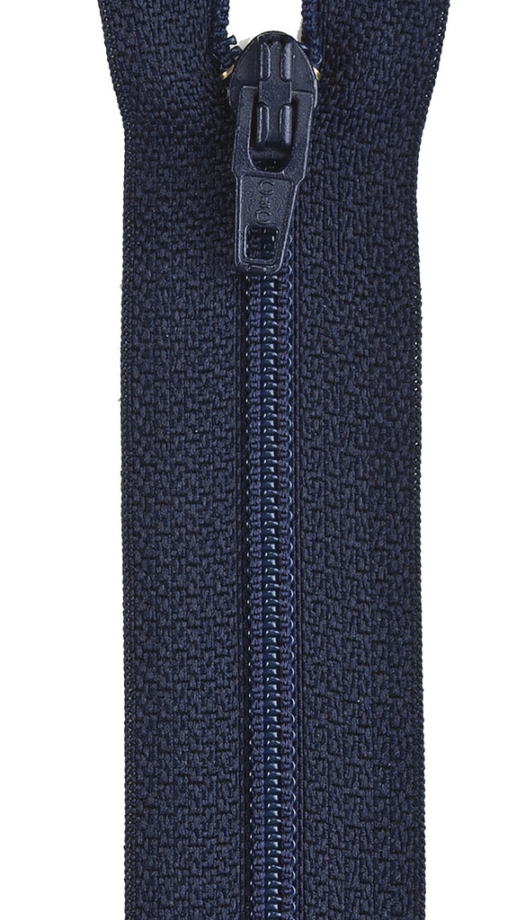 All-Purpose Polyester Coil Zipper 14in - Navy