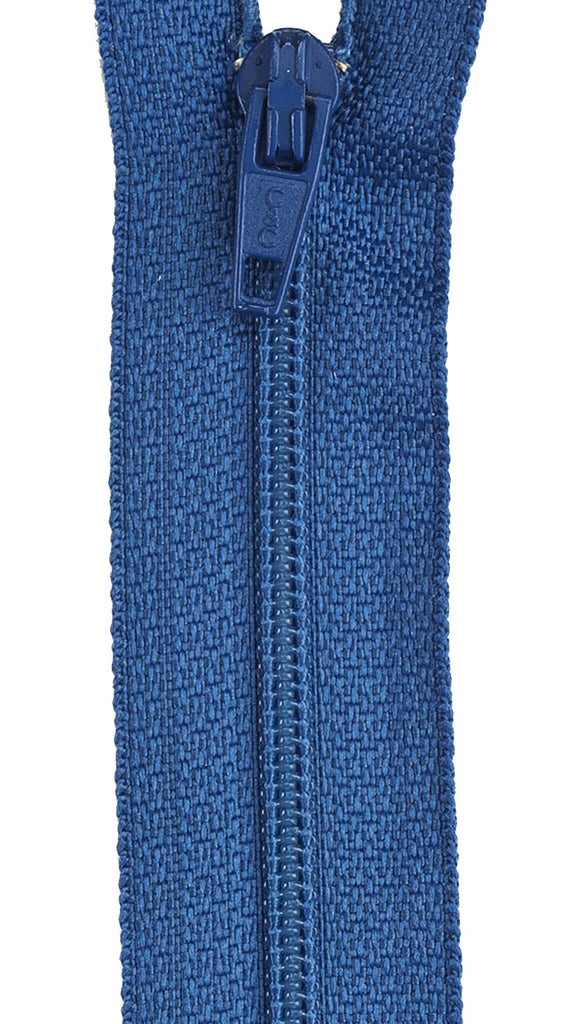 All-Purpose Polyester Coil Zipper 14in - Soldier Blue