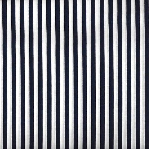 "Fabric Arts - Navy and White 1/4"" Stripe"